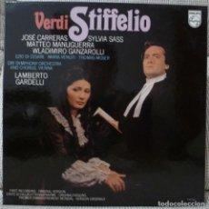 Discos de vinilo: VERDI - STIFFELIO (CAJA 2 LPS + LIBRETO PHILIPS HOLANDA) VINILOS COMO NUEVOS. Lote 129351167