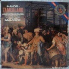 Discos de vinilo: HANDEL - TAMERLAND (CAJA 3 LPS + LIBRETO CBS HOLANDA) VINILOS COMO NUEVOS. Lote 129353083