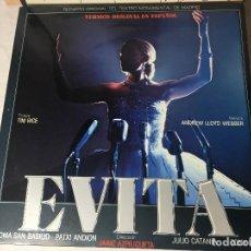 Discos de vinilo: DISCO LP CARPETA DOBLE EVITA. Lote 129363367