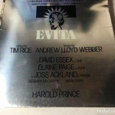 Discos de vinilo: DISCO LP CARPETA EVITA. Lote 129363495