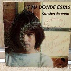 Discos de vinilo: VINILO, MIGUEL GALLARDO Y TU DONDE ESTAS, CON SELLO DE DISCOS MANUEL ESCOLANO DIEZ ( NOVELDA ). Lote 226389465