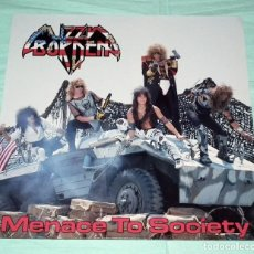 Discos de vinilo: LP LIZZY BORDEN - MENACE TO SOCIETY. Lote 129382319