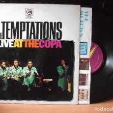 Discos de vinilo: THE TEMPTATIONS LIVE AT THE COPA LP USA 1968 PDELUXE. Lote 129388927
