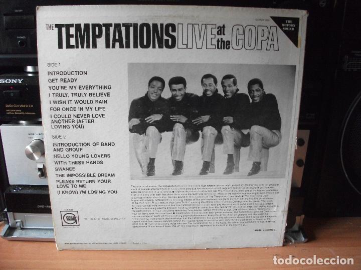 Discos de vinilo: THE TEMPTATIONS LIVE AT THE COPA LP USA 1968 PDELUXE - Foto 2 - 129388927