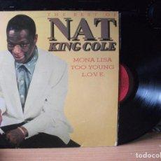 Discos de vinilo: NAT KING COLE THE BEST OF NAT KING COLE LP SPAIN 1982 PDELUXE. Lote 129390975