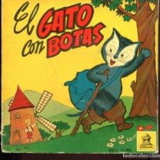 Discos de vinilo: EL GATO CON BOTAS. DISCO + CUENTO. ODEÓN 1960. . Lote 129424895