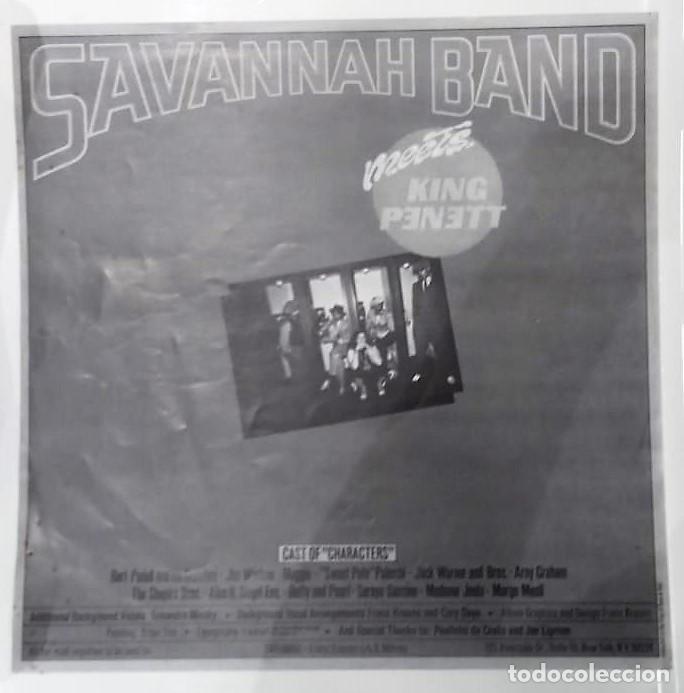 Discos de vinilo: DR. BUZZARD´S ORIGINAL SAVANNAH BAND - MEETS KING PENETT LP PROMO ED. ESPAÑOLA 1978 - Foto 5 - 129430271