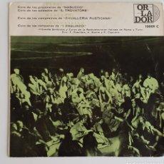 Discos de vinilo: SINGLE COROS DE OPERAS. Lote 129431775