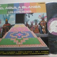 Discos de vinilo: LOS CONCHEROS - EL AGUILA BLANCA- LP PROMO MEXICO CANDEM 1969 // COMO NUEVO // FOLK PREHISPANICO. Lote 129435935