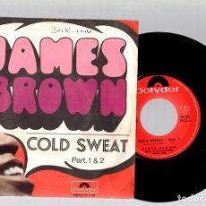 Discos de vinilo: SINGLE JAMES BROWN. COLD SWEAT PART 1 & 2. POLYDOR. Lote 129439676