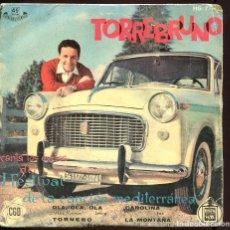 Discos de vinilo: FESTIVAL DE LA CANCION MEDITERRANEA. TORREBRUNO. HISPAVOX 1959. Lote 129440803