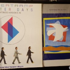 Discos de vinilo: MAXIS - SUPERTRAMP - BETTER DAYS - A&M RECORDS – 392 242-1 - FREE AS A BIRD - 390 284-1 AB. Lote 129469534
