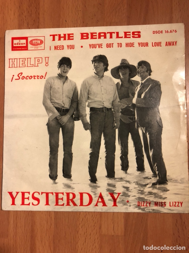 Ep vinilo the beatles yesterday help ! I need you 1965