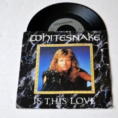Discos de vinilo: SINGLE: WHITESNAKE. IS THIS LOVE- STANDING IN SHDOWS. AÑO 1987. Lote 129508407