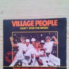 Discos de vinilo: VILLAGE PEOPLE - CAN'T STOP THE MUSIC - MILKSHAKE - SINGLE. Lote 129521187