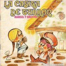 Discos de vinilo: HANSEL Y GRETEL. LA CASITA DE TURRON . LIBRO CUENTO MOVIEPLAY 1972 (DISCO NEGRO) + CUENTO. Lote 129521263