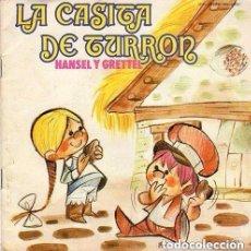 Discos de vinilo: HANSEL Y GRETEL. LA CASITA DE TURRON . LIBRO CUENTO MOVIEPLAY 1972 (DISCO NEGRO) + CUENTO. Lote 129521315