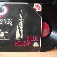 Discos de vinilo: BILLIE HOLLYDAY THE LADY SINGS VOL.2. LP UK 1963 PDELUXE. Lote 129524935