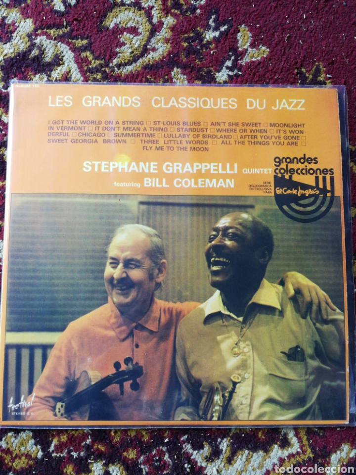 2LP'S STEPHANE GRAPPELLI QUINTET FEATURING BILL COLEMAN, CLASSIQUES JAZZ, 1976. (Música - Discos - LP Vinilo - Jazz, Jazz-Rock, Blues y R&B)