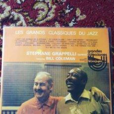 Discos de vinilo: 2LP'S STEPHANE GRAPPELLI QUINTET FEATURING BILL COLEMAN, CLASSIQUES JAZZ, 1976.. Lote 129546252