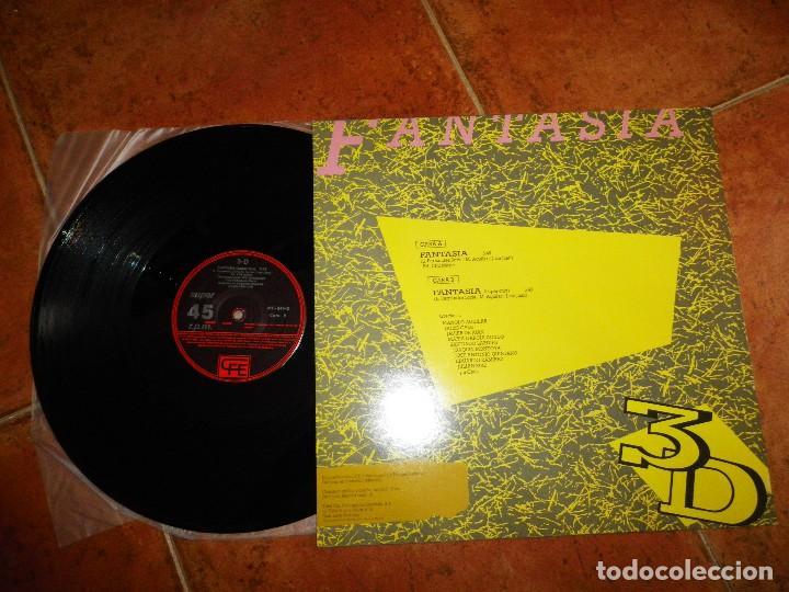 Discos de vinilo: 3 D Fantasia MAXI SINGLE VINILO PROMO 1984 LA DECADA PRODIGIOSA AZUL Y NEGRO JOAQUIN MONTOYA 3D - Foto 2 - 129548659