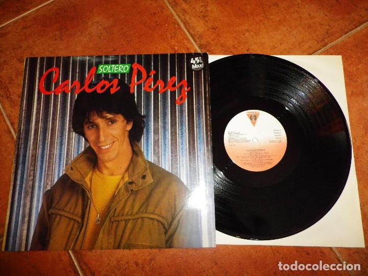 CARLOS PEREZ SOLTERO MAXI SINGLE VINILO 1985 ITALODISCO ITALO DISCO CONTIENE 3 TEMAS DISCOS VICTORIA (Música - Discos de Vinilo - Maxi Singles - Grupos Españoles de los 70 y 80)