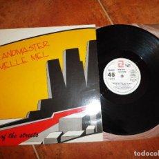 Discos de vinilo: GRANDMASTER MELLE MEL KING OF THE STREETS MAXI SINGLE VINILO PROMO 1985 ESPAÑA 2 TEMAS RAP HIP HOP. Lote 129555179