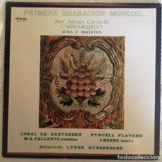 Discos de vinilo: CARRASQUEDO - MISA Y MOTETES - CORAL DE SANTANDER. Lote 129558047