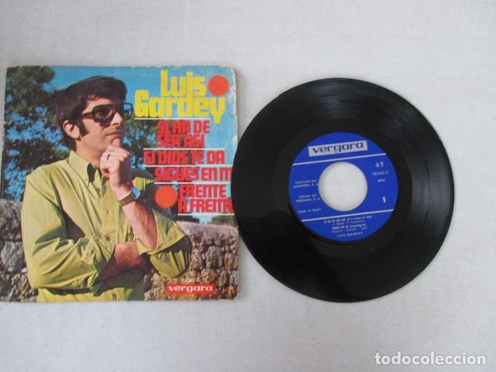 Discos de vinilo: Luis Gardey Si ha de ser así/ Si Dios te da/ Sigues en mí/ Frente a frente VERGARA 1968 - Foto 3 - 129558207