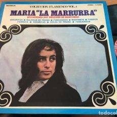 Discos de vinilo: MARIA LA MARRURRA LA CANTAORA DE FLAMENCO AMERICANA LP ESPAÑA 1971 (VIN-A8). Lote 129562511