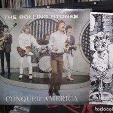 Discos de vinilo: ROLLING STONES CONQUER AMERICA LP WHITE VINYL / SWINGIN PIG . Lote 129563807