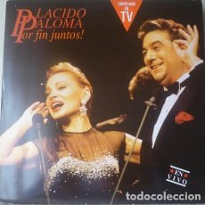 Discos de vinilo: PLACIDO DOMINGO / PALOMA SAN BASILIO – PLACIDO PALOMA POR FIN JUNTOS! EN VIVO - DOBLE LP 1991. Lote 129577399