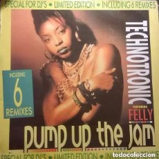 Discos de vinilo: TECHNOTRONIC - PUMP UP THE JAM MAXI-SINGLE 6 REMIXES - 12' MAX MUSIC SPAIN. Lote 129589903