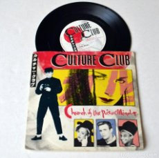 Discos de vinilo: SINGLE: CULTURE CLUB. CHURCH OF POISON MIND- MAN SHAKE. AÑO 1983. Lote 129592667