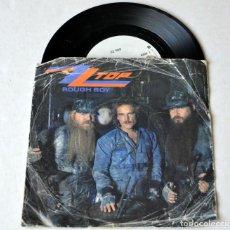 Discos de vinilo: SINGLE: ZZ TOP. ROUGH BOY . AÑO 1985. Lote 129592943