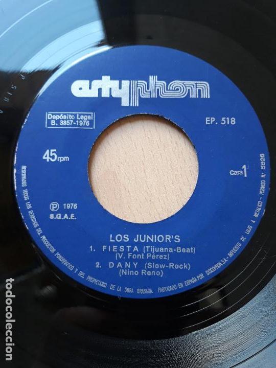 LOS JUNIOR'S- FIESTA +3- EP ARTYPHON 1976 (Música - Discos de Vinilo - EPs - Grupos Españoles de los 70 y 80)