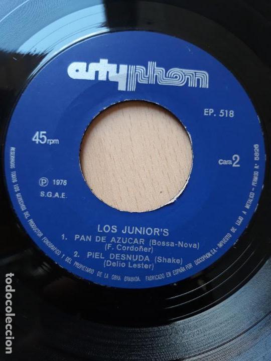Discos de vinilo: Los junior's- fiesta +3- ep artyphon 1976 - Foto 2 - 129597159