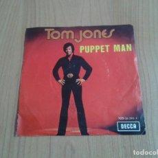Discos de vinilo: TOM JONES -- PUPPET MAN, EVERY MILE -- EDICIÓN BÉLGICA -- DECCA -- SINGLE. Lote 129615399