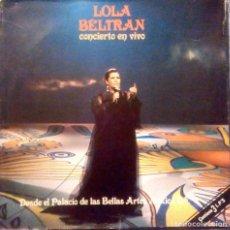 Discos de vinilo: LOLA BELTRAN - CONCIERTO EN VIVO DESDE EL PALACIO DE LAS BELLAS ARTES MEXICO D.F. TRIPLE LP AÑO 1979. Lote 129667227