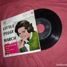 Discos de vinilo: LITTLE PEGGY MARCH -EP- HOLA DOLOR, ADIOS AMOR - RCAQ 1963 SPAIN. Lote 129673167