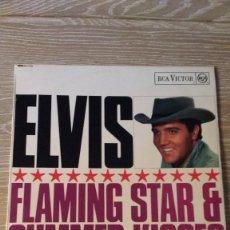 Discos de vinilo: ALBUM DEL CANTANTE NORTEAMERICANO ELVIS PRESLEY, FLAMING STAR & SUMMER KISSES,USA FIRST PRESS (1965). Lote 129699859