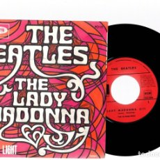 Discos de vinilo: SINGLE THE BEATLES. THE LADY MADONNA. THE INNER LIGHT. ODEON.. Lote 129705619