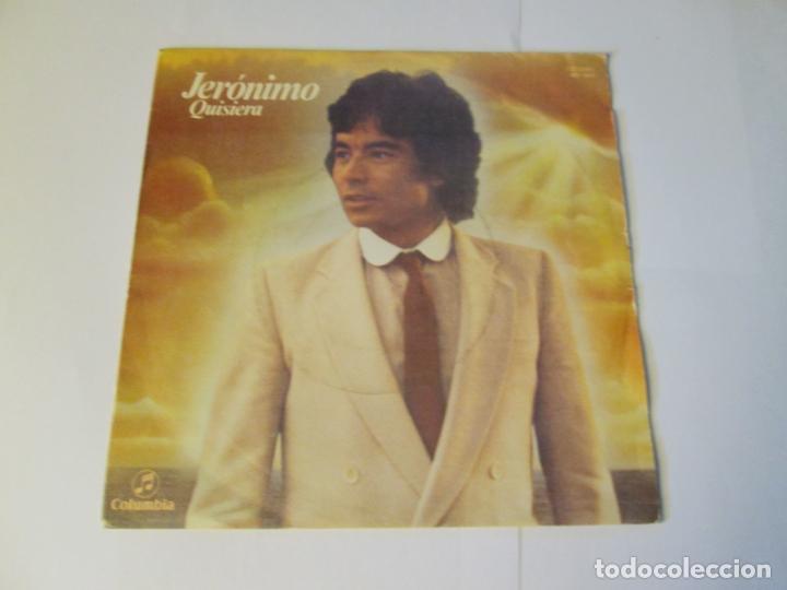 JERONIMO - QUISIERA + ALGUN DIA VOLVERE -SINGLE- COLUMBIA 1980 SPAIN MO 1951 XXI FESTIVAL BENIDORM (Música - Discos - Singles Vinilo - Otros Festivales de la Canción)