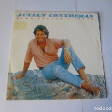 Dischi in vinile: JULIAN CONTRERAS - PARA VOLVER A VIVIR + POR CULPA DE LOS DOS -SINGLE- TWINS 1988 SPAIN VINILO NUEVO. Lote 129708319