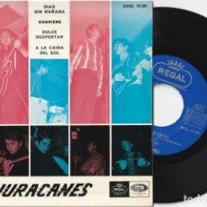 Discos de vinilo: LOS HURACANES - DIAS SIN MAÑANA + 3 (EP EMI-REGAL 1966). Lote 149199397