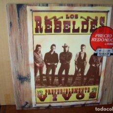 Discos de vinilo: LOS REBELDES - PREFERENTEMENTE VIVOS - LP DOBLE 1990. Lote 129734859