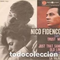 Discos de vinilo: NICO FIDENCO – TRUST ME / JUST THAT SAME OLD LINE - SINGLE ITALY 1960. Lote 287930588