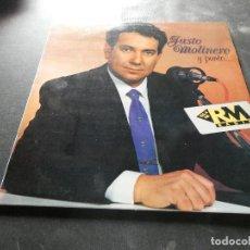Discos de vinilo: LP JUSTO MOLINERO POEMAS Y CANCIONES POR PEDRO REDONDO. Lote 129977539