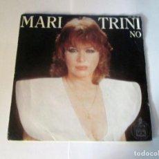 Discos de vinilo: MARI TRINI - NO + NOCHE DE RONDA -SINGLE- HISPAVOX 1984 SPAIN 445152. Lote 129980343