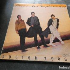 Discos de vinilo: MAXI SINGLE PROMO PRESUNTOS IMPLICADOS DOCTOR BOOGIE BUEN ESTADO. Lote 129980391